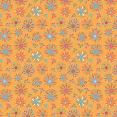 Tangerine Chrystal Flowers Pattern http:/society6.com/dotdesigns Dotdesigns26@gmail.com