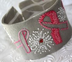 breast cancer awareness cuff by waterrose