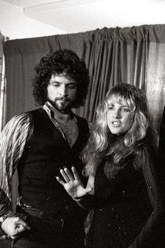 """goldduststevie: """"""""Lindsey and Stevie at the Rock Awards in LA - September 1977. """" """""""