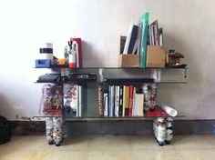 Ecobrick Shelf Brick Projects, Projects To Try, Peace Corps, Building Ideas, Bricks, Sustainability, Tiny House, Bookends, Diy Ideas