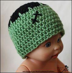 Mamma That Makes  Rosies Cozies - Frankenbaby Beanie 26 bfcb78484