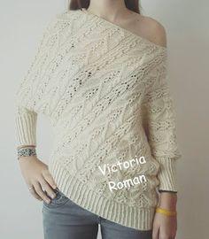 Lucru de mana crosetat, tricotat: Bluza asimetrica tricotata manual