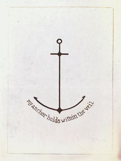 """My anchor holds within the veil"" tattoo idea I came up with"