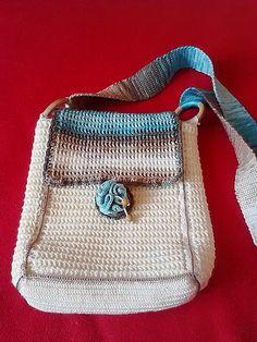 Háčkovaná kabelka - béžová