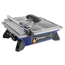 wet tabletop tile saw is designed to rip cut tile and diagonally cut tile with a max depth of cut motor generates up to to easily cut ceramic, porcelain, natural stone and glass/mosaic tile Aluminum extension table supports larger tile projects and Lowes Tile, Cnc, Glass Backsplash Kitchen, Rip Cut, Sliding Table, Decor Pad, Buy Tile, Tile Saw, Extension Table