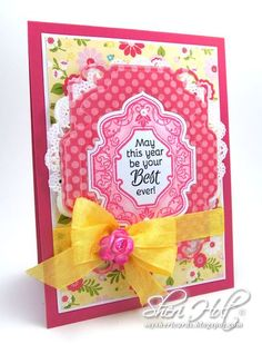 Birthday Floral Vintage Labels Eight and Nine Clear Stamps and Vintage Labels Eight Dies | JustRite Papercraft Inspiration Blog