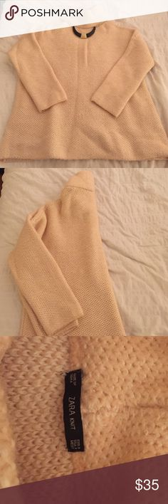 Oversized Zara Knit Plush Pink Sweater New Zara Knit sweater. Perfect for the Fall/Winter weather! Great to pair with leggings and boots Zara Sweaters