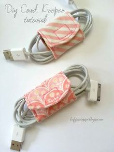 Diy Cord Keeper From Fabric Scraps - @Melanie Bauer Bauer Bauer Bauer Muldary Can we do this?