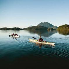 Paddling with Tofino Sea Kayaking in Tofino on Vancouver Island. (Photo: jeremykoreski via Instagram) #exploreBC #explorecanada