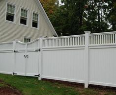 Board Fence with In-Line Gate | Wood, Solid Cellular PVC, Metal and Hollow Vinyl Fences from Walpole Woodworkers