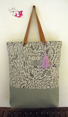 Tote bag  #handmade #tote_bag #pastel_mint #owl #unique Pastel Mint, Burlap, Owl, Reusable Tote Bags, Unique, Handmade, Fashion, Moda, Hessian Fabric
