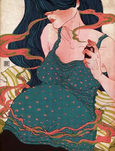 Illustration by Victo Ngai. Her work resembles traditional woodblock prints.