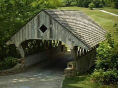 Welcoming covered bridge.