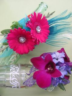 hot pink and turquoise...love