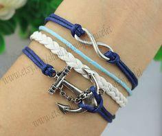 Infinity & Anchor BraceletAntique Silver by themagicbracelet, $3.59