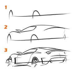 How to sketch a car in 10 minutes — TheSketchMonkey                                                                                                                                                                                 More