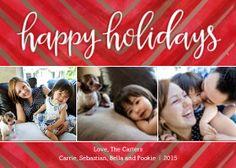Mixbook Watercolored Chevron Holiday Photo Cards