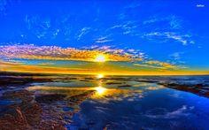 Sunrise Wallpaper Blue Cool 6184 Free HD Wallpaper