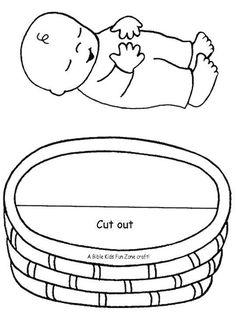 resultado de imagen para baby moses in a basket craft