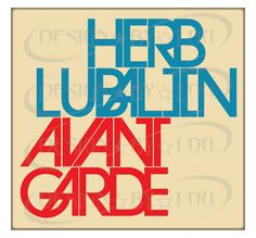 I love the continous line from the A in lubalin to the A in Garde, mgiht do somehting similar