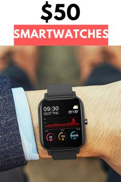 I was super hesitant to buy a Chinese smartwatch, I'll be honest with you. Cool Technology, Technology Gadgets, Tech Gadgets, Cool Gadgets, Cheap Electronics, Cheap Watches For Men, Digital Microscope, Titanium Watches, Screwdriver Set