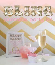 BLING  bridal shower / bachelorette printable party kit by StardustDesignStudio, $22.00
