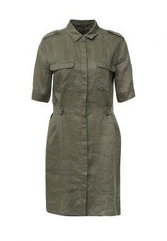 Платье, United Colors of Benetton, цвет: хаки. Артикул: UN012EWPIN12.