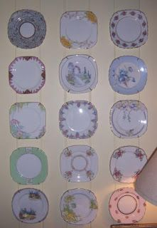 Hollyhock Cottage - plates from cardstock and clear nail polish