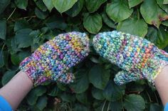 Mittens with one skein of yarn