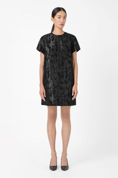 Raised print dress