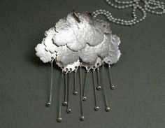 Rain Cloud Pendant by Lisa West.