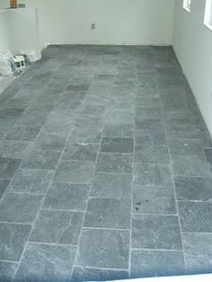 Gray Slate Tile Floor   Especially For An Entryway Or Laundry Room