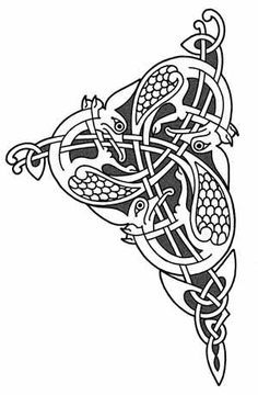 A birds motif from the Lindisfarne Gospels. Victor Gonzalez