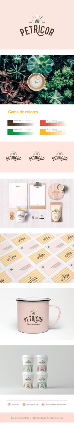 Petricor Cafe brand identity design by Astromelia Design and Illustration Cafe Branding, Cafe Logo, Branding Agency, Brand Identity Design, Corporate Design, Design Agency, Branding Design, Cafe Design, Food Design