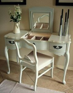 French provincial vanity - love the colour