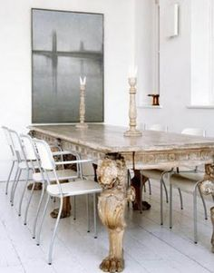 fabulous table !!! good mix of antique and modern .