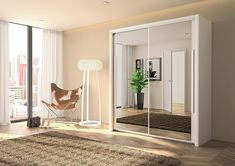 Awesome Wardrobe With Mirrored Door Bergen 2 Slider Benson For Bed White Mirror Drawer Sliding Dressing Table Design Storage Ikea Uk Sliding Mirror Wardrobe Doors, White Sliding Wardrobe, Mirror Door, Sliding Doors, Steel Wardrobe, Wooden Wardrobe, Cheap Wardrobes, Buy Bed