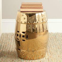 Keramikhocker Ming - Gold