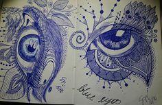 Blue eyes - Gelschreiber