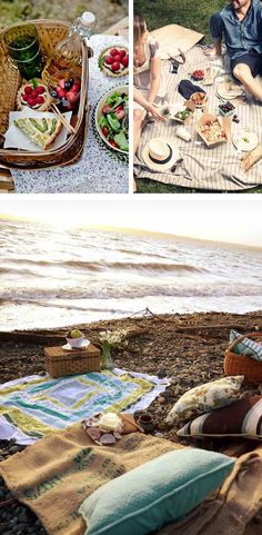 Picnic ideas :) Never thought about taking pillows! LOL! DOES NOT LINK TO ARTICLES