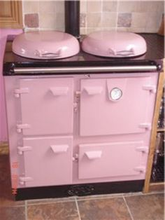 "My SIL's pink cast iron stove. She ordered it in Ireland and said, ""Any chance you could make it pink?"""