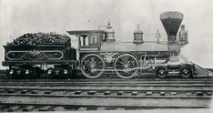 No. 171, a thirty-three-ton American Standard 4-4-0 type built in 1854 by Seth Wilmarth of Boston.