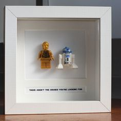 Star Wars Lego Mini Figures R2 D2 & C3PO Framed - These Are Not The Droids...""
