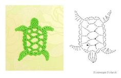Crochet Turtle Applique Pattern