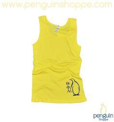 JUST IN! Theta Phi Alpha Yellow Ribbed Penguin Tank Top