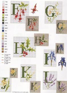 bloemenletters F t/m L