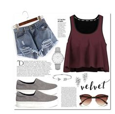 """""""#Velvet #Contest"""" by miralemaa ❤ liked on Polyvore featuring Rebecca Minkoff, Opening Ceremony, Bling Jewelry, River Island, Balmain, Topshop and topic"""