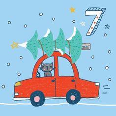Christmas Advent Calendar Illustrations 2016 - Part I Diy Advent Calendar, Kids Calendar, Advent 2016, Calendar Numbers, Workout Calendar Printable, Printable Calendar Template, Christmas Owls, Christmas Themes, Xmas