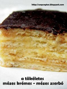 Hungarian Desserts, Hungarian Recipes, Cake Recipes, Dessert Recipes, Croatian Recipes, Food Concept, Baking And Pastry, Recipes From Heaven, Sweet And Salty