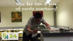 Take a pile of cards and try to get it leaning away from a table as far as possible. How To Get, Canning, Cards, Maps, Home Canning, Playing Cards, Conservation